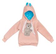 Толстовка Мишка с ромашкой вышивка