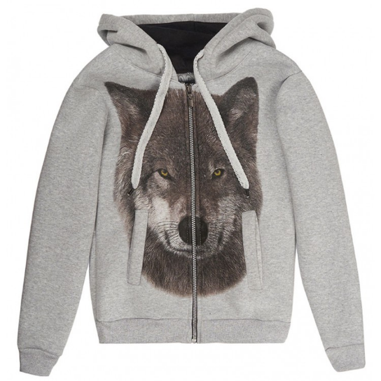 Толстовка Серый волк