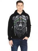 Толстовка Медведь в шлеме
