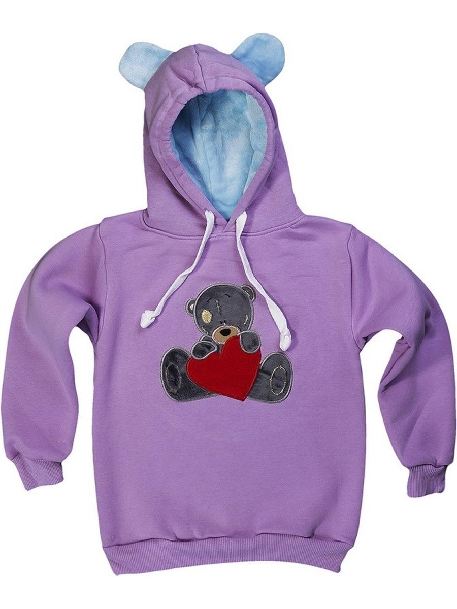 Толстовка Мишка с сердцем вышивка