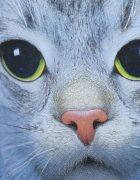 Футболка Кошка с зелеными глазами