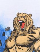 Футболка Медведь с флагом