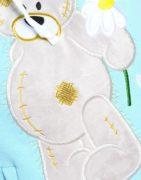 Костюм Мишка ромашка вышивка