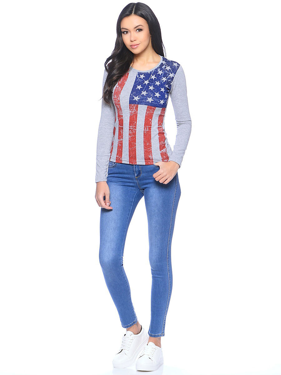 Лонгслив Американский флаг