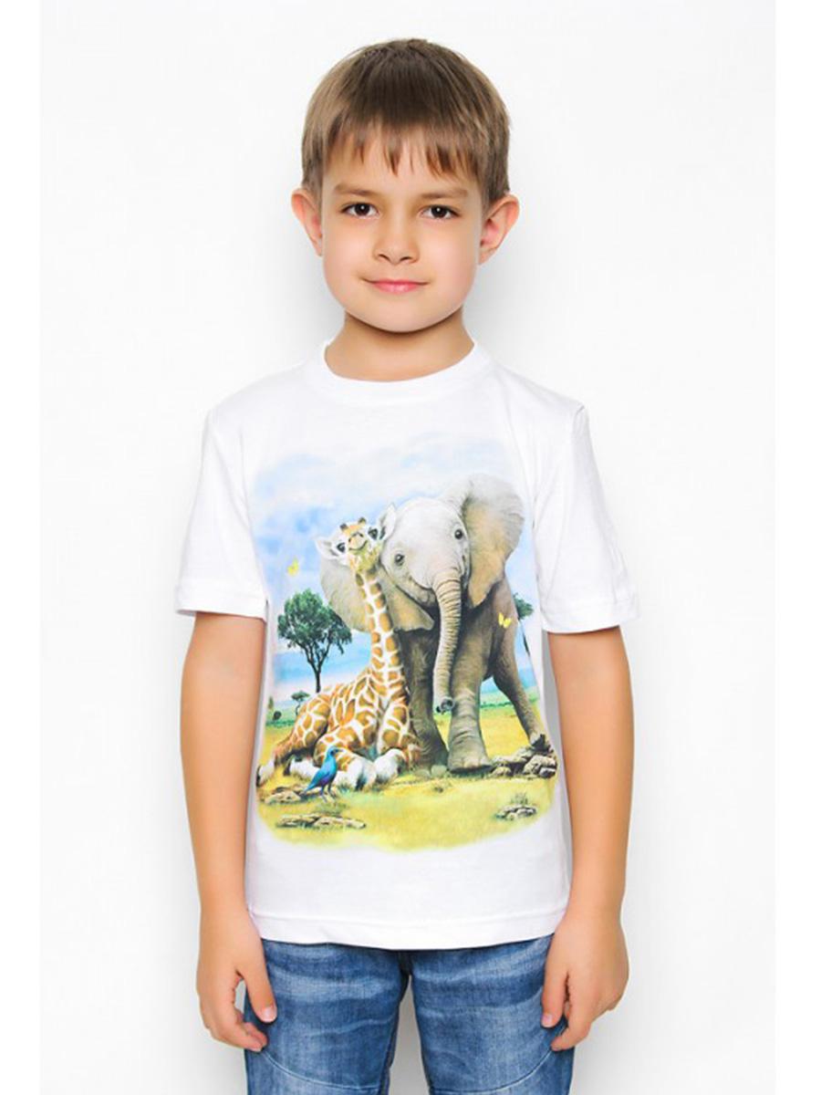 Футболка Слоненок и Жираф